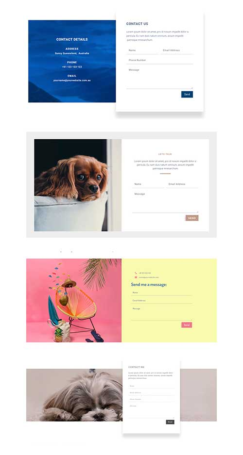 Divi contact form layout download