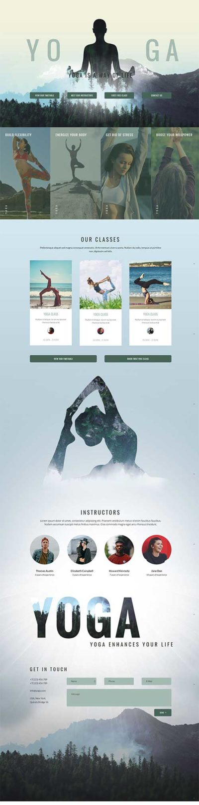 free yoga layout for Divi Theme