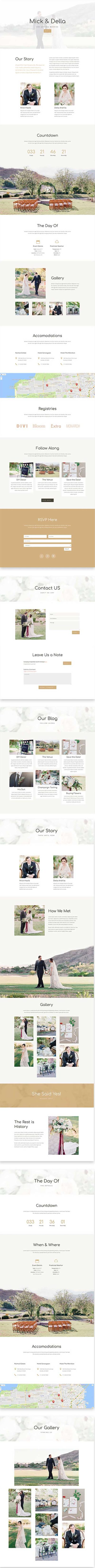 free divi layout for wedding website