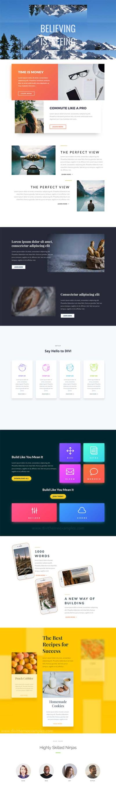 divi animations free layout template