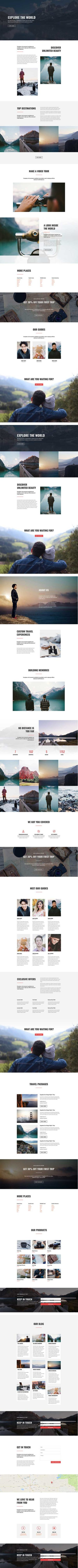 free Divi Theme layout for travel blog