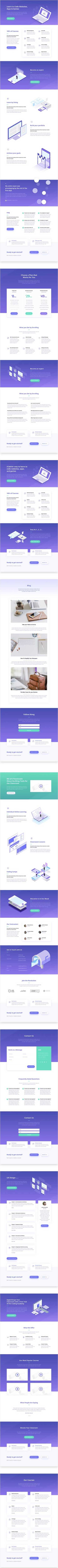 Free divi layout for online courses