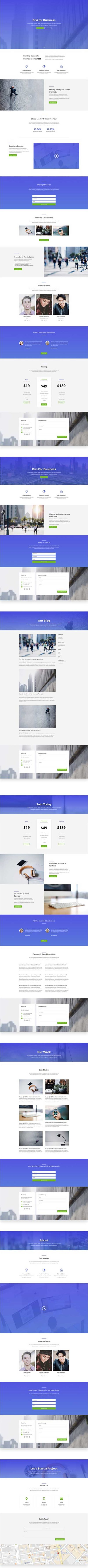 free divi layout for business website