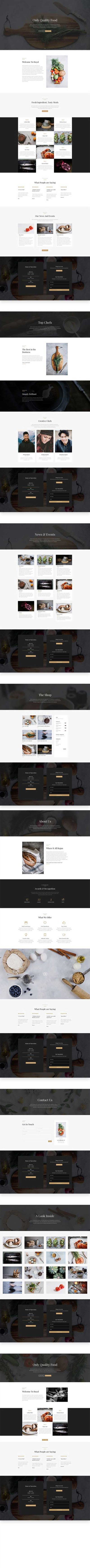 free divi layout for restaurant