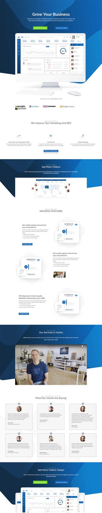 free divi theme landing page layout
