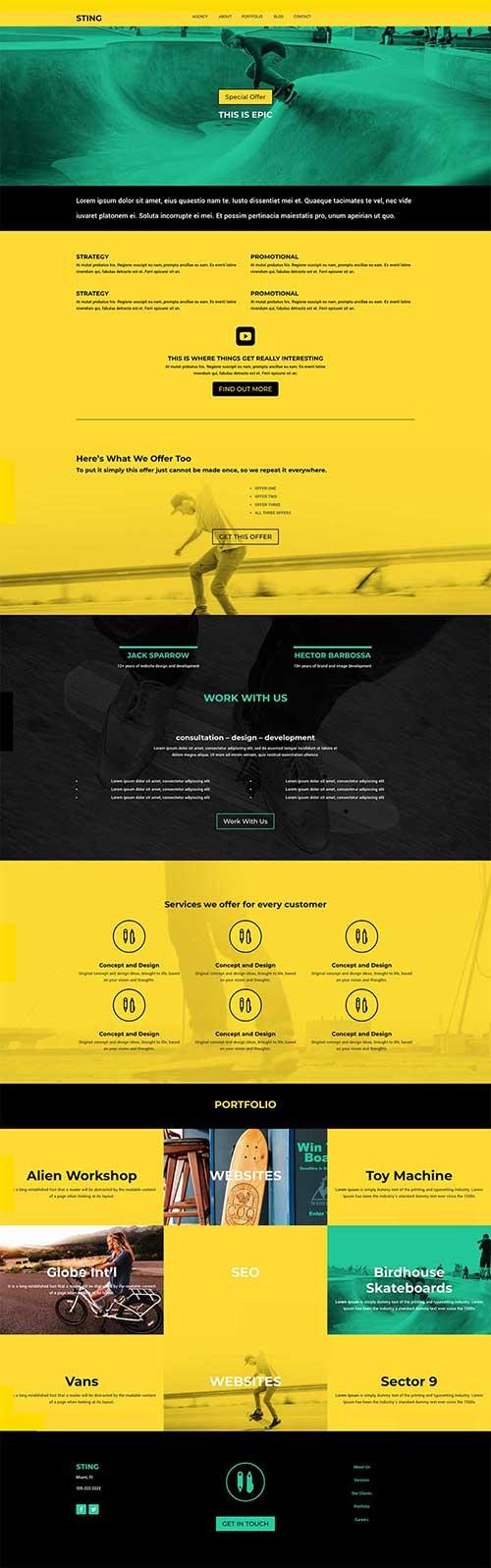 divi dojo free layout