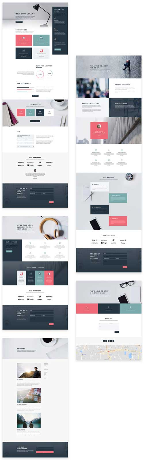 free consultants divi layout pack