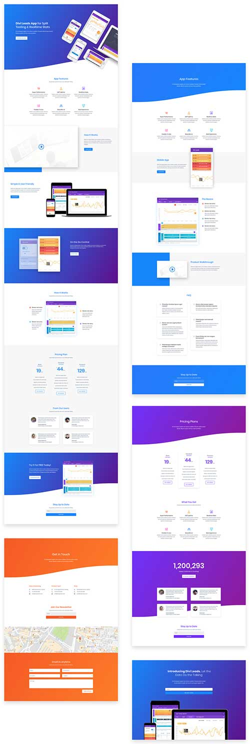 free divi theme layout pack for apps