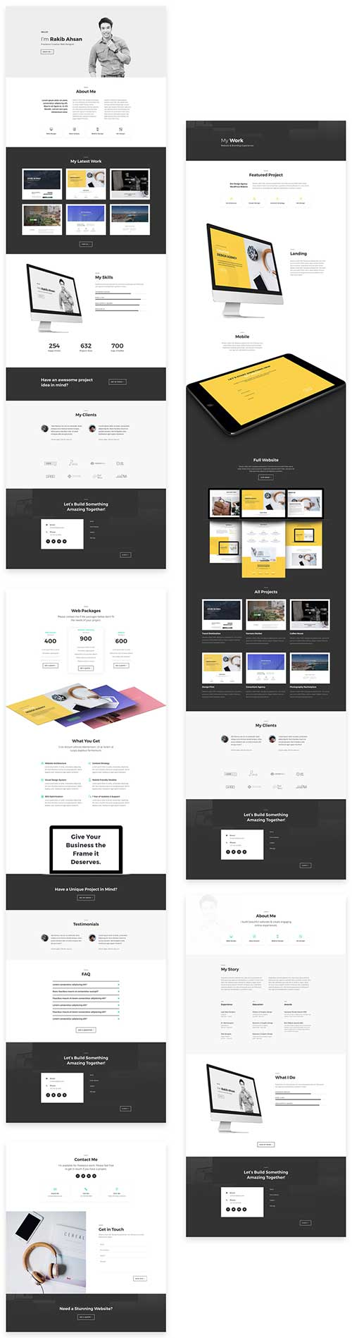 freelancers divi layout pack