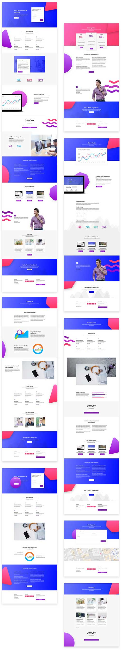 Divi SEO agency layout pack download