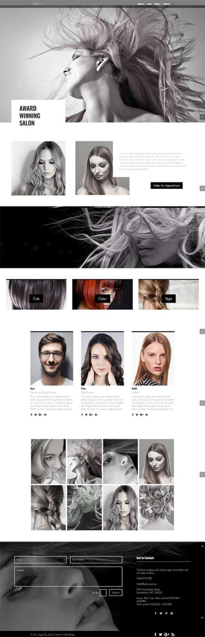 divi layout 1 page spa
