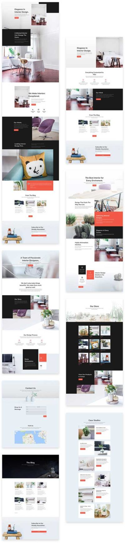 free divi layout for interior design agency