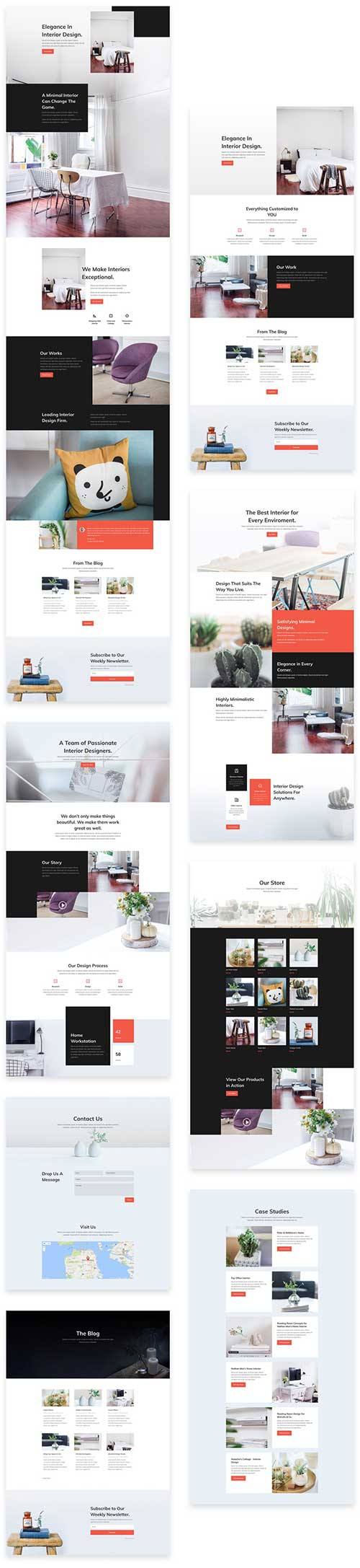 Free divi theme layout pack for interior design agency for Design agency