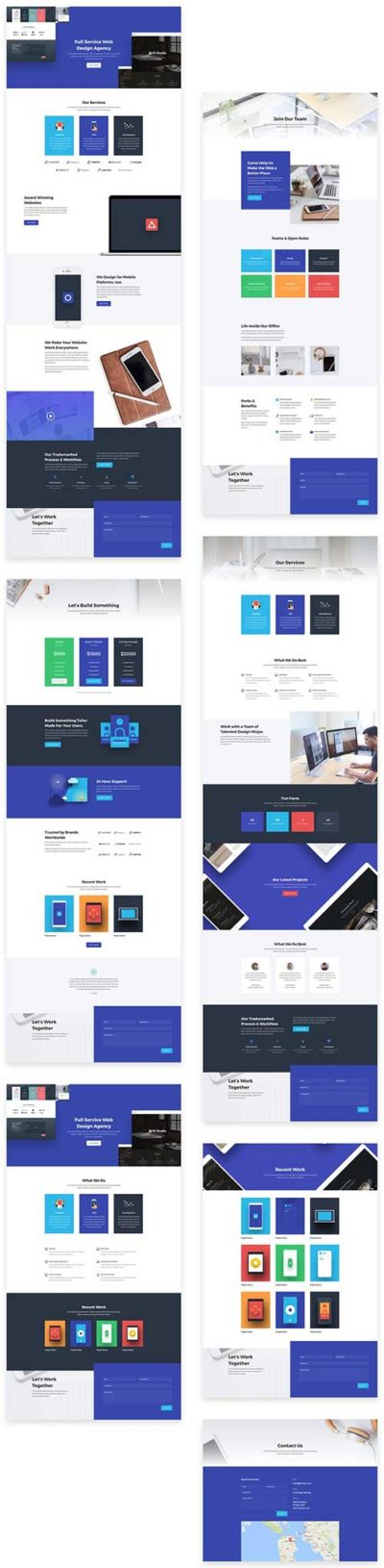 free divi layout for web agency