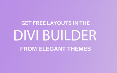 Free Divi layout packs from Elegant Themes