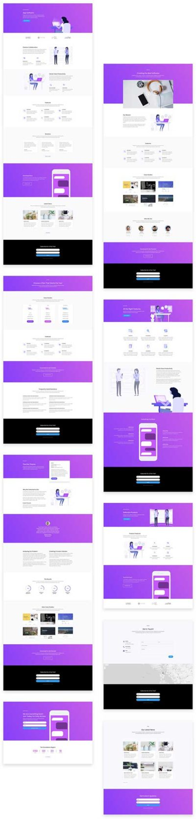 divi layout for software marketing