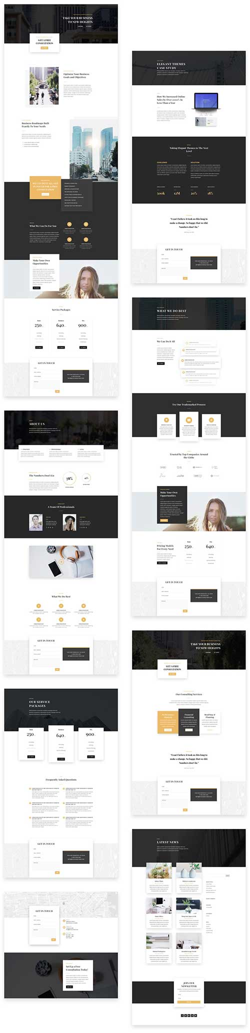 Business consultant layout pack layout divi theme layouts for Elegant themes divi review