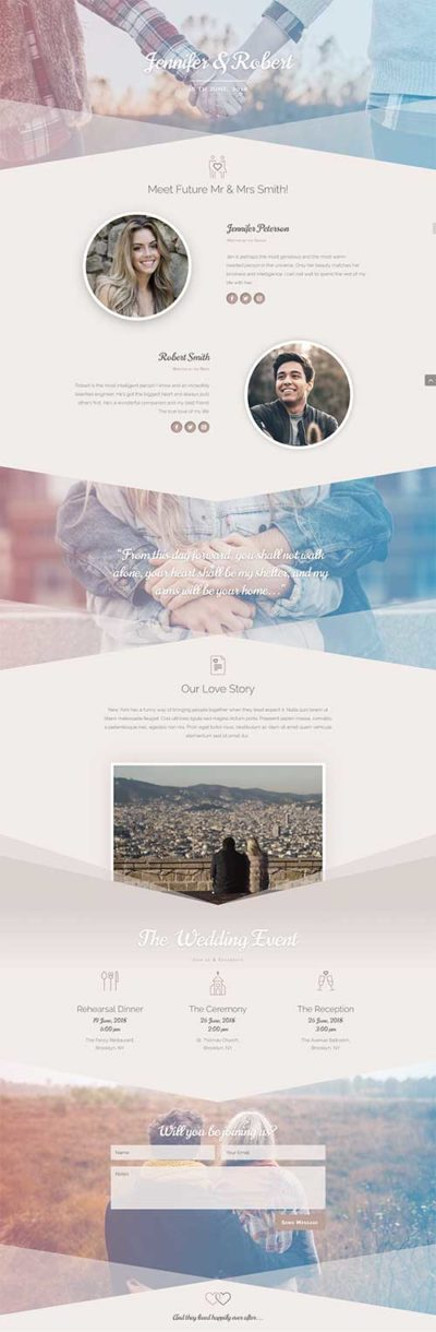 free divi wedding layout