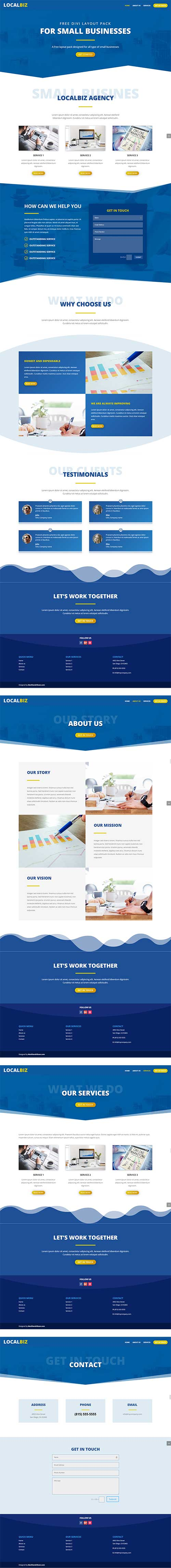 free small business layout pack