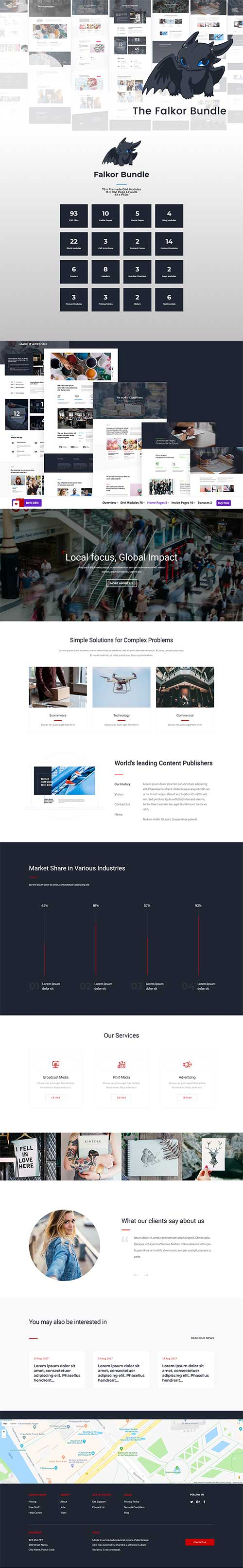 Divi den falkner layout pack