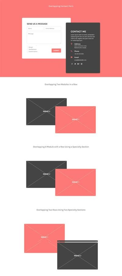 free divi overlapping layout