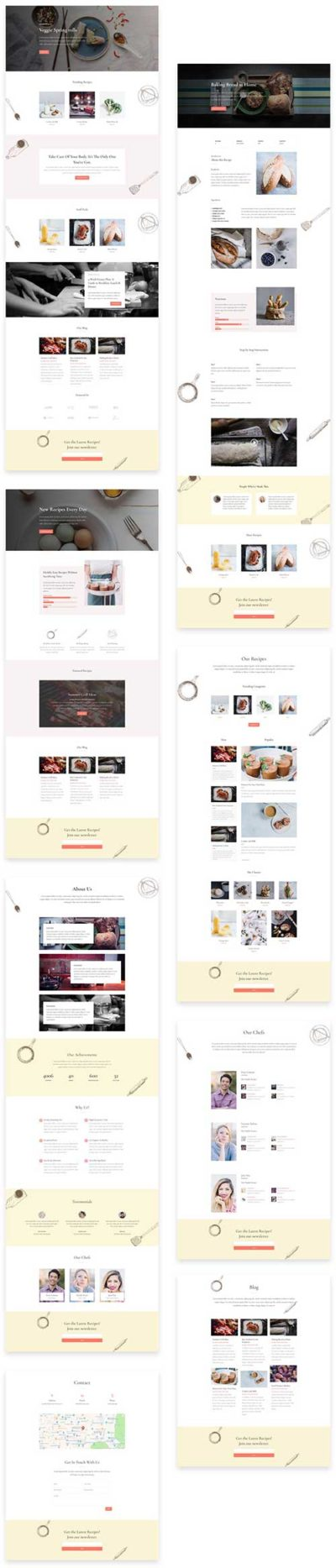 free divi template for food blog