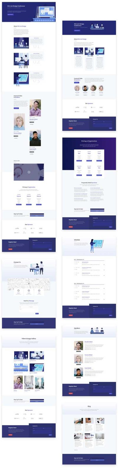 free divi layout for conference event