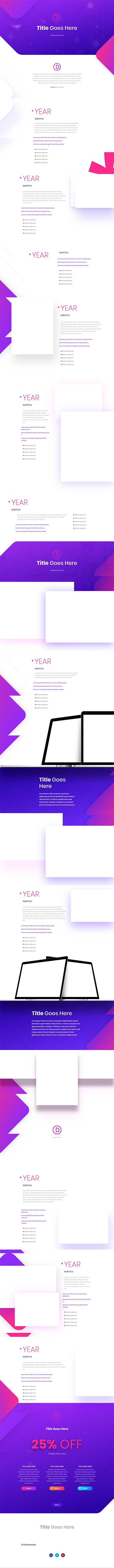 free divi timeline layout from Elegant Themes