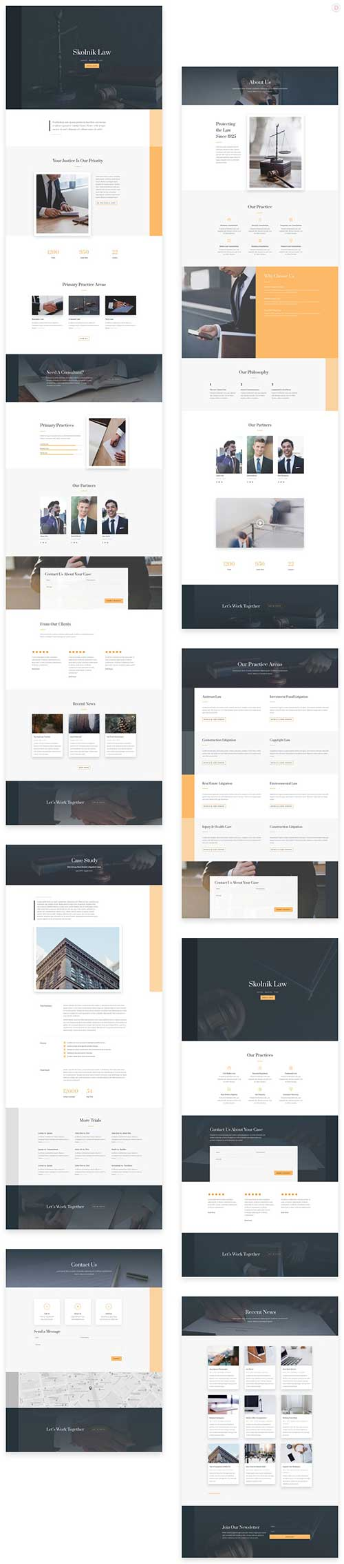 divi layout for law firm attorney