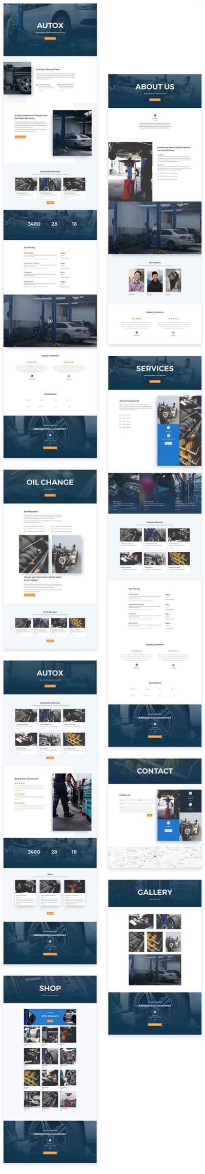 divi layout pack car mechanic