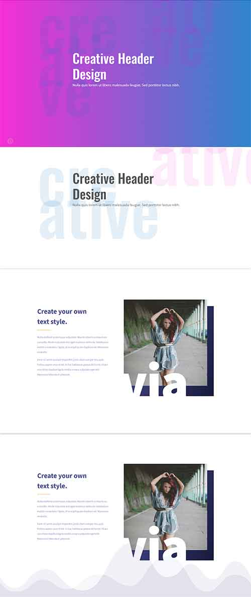 free divi layout for abstract text headr designs