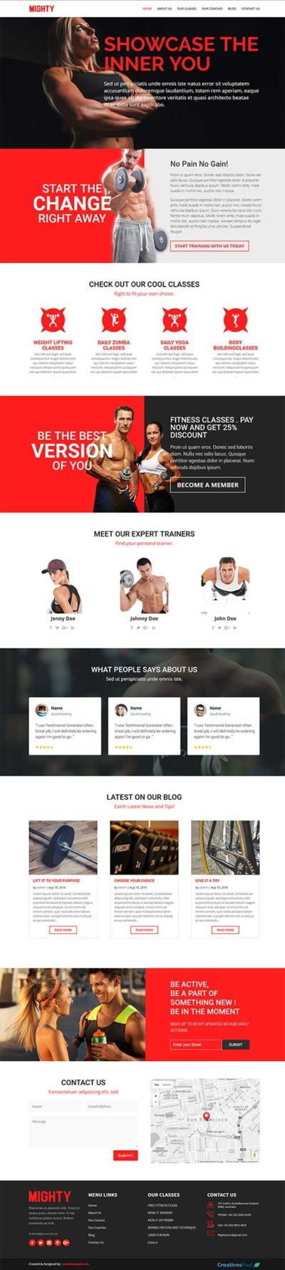 divi layout pack for fitness website