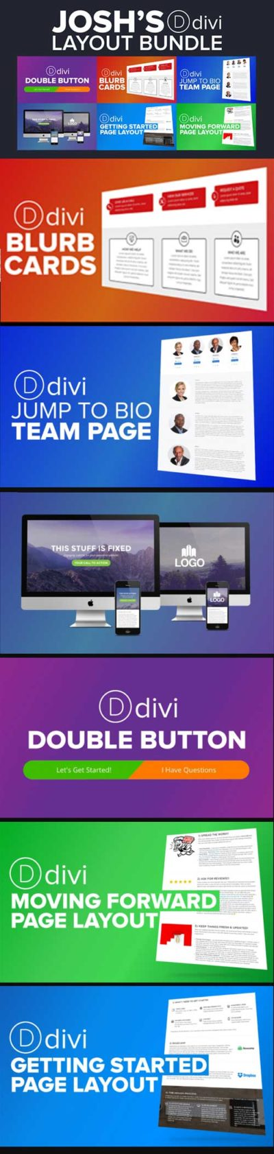 josh halls Divi layout bundle