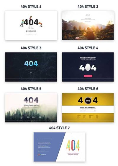 free divi 404 page layouts download