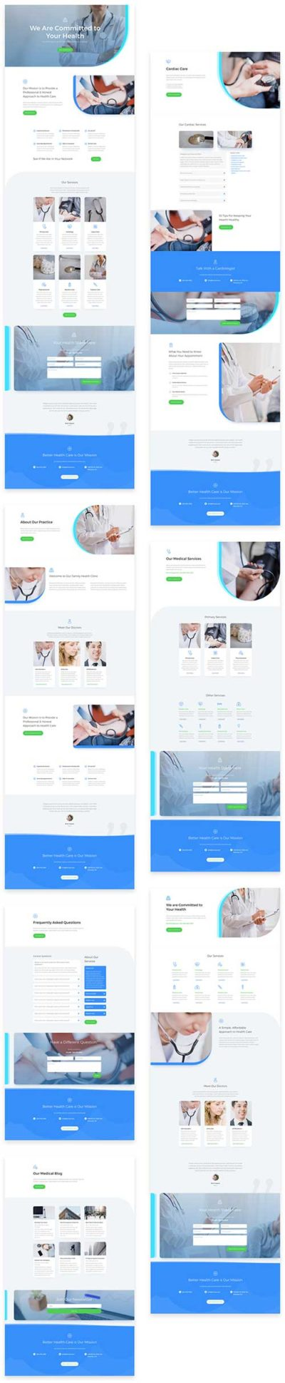 free divi layout for doctors clinic