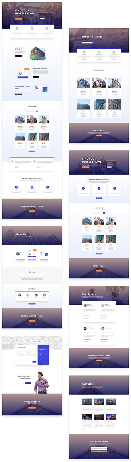 free divi layout pack for real estate
