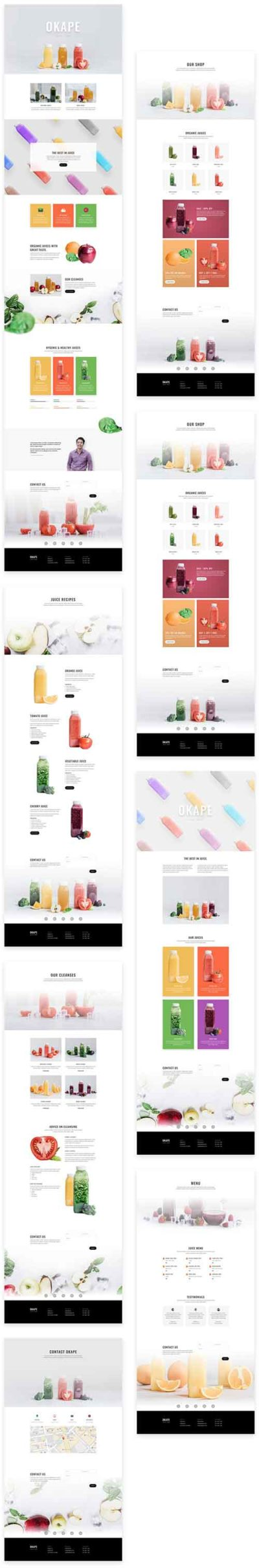 free divi layout for juice bar shop