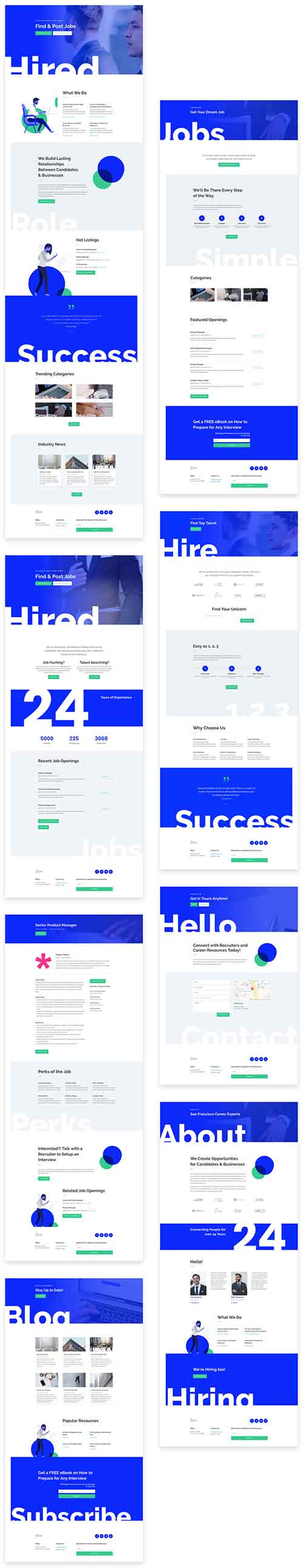 recruitment Divi Theme layout template