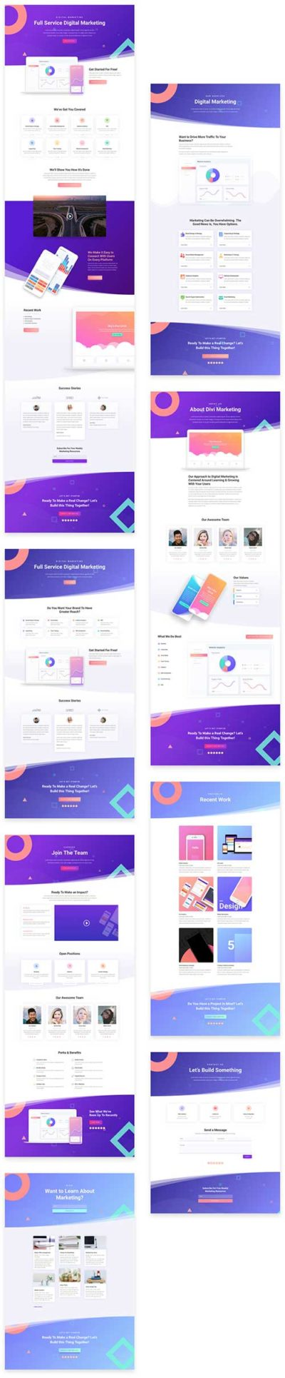 free digital marketing layout pack for divi theme