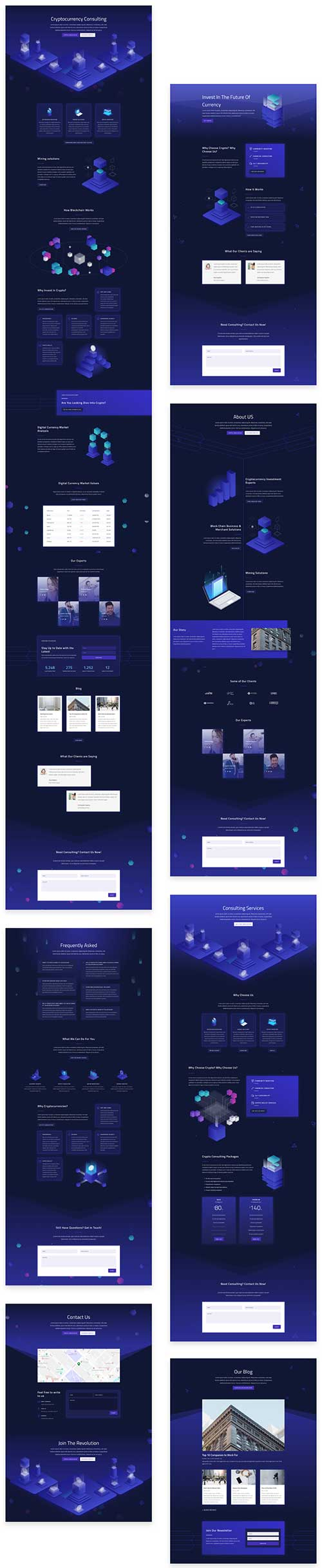 divi cryptocurrency layout pack
