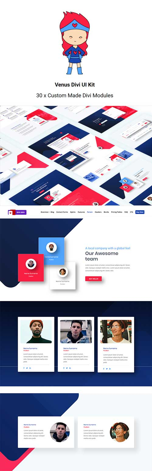 divi den Venus layout pack