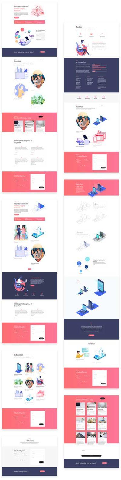 divi layout pack for graphic designer