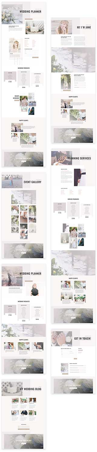 free divi layout for wedding planner