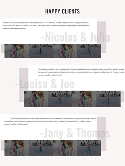 divi testimonial layout template