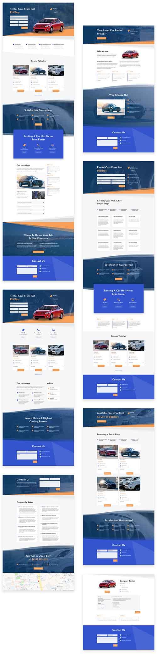 car dealer divi layout pack