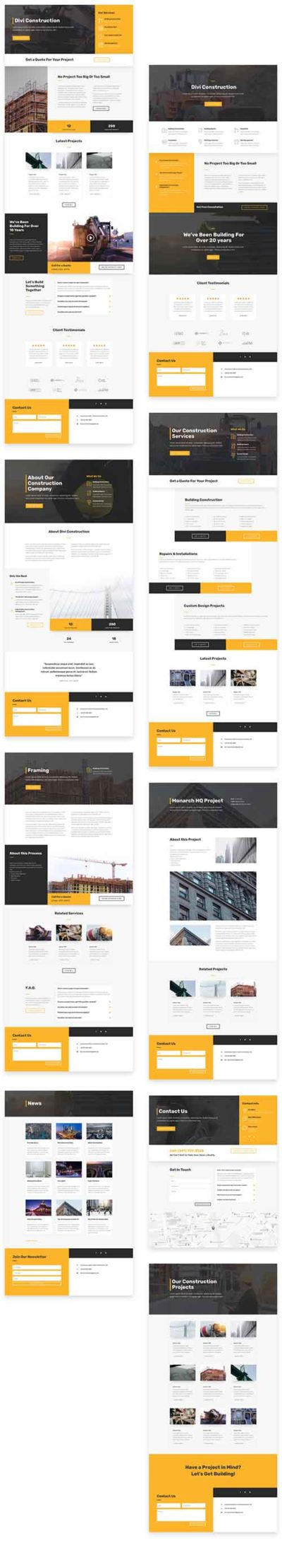 divi construction layout pack