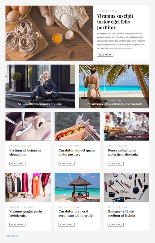 divi grid blog layout