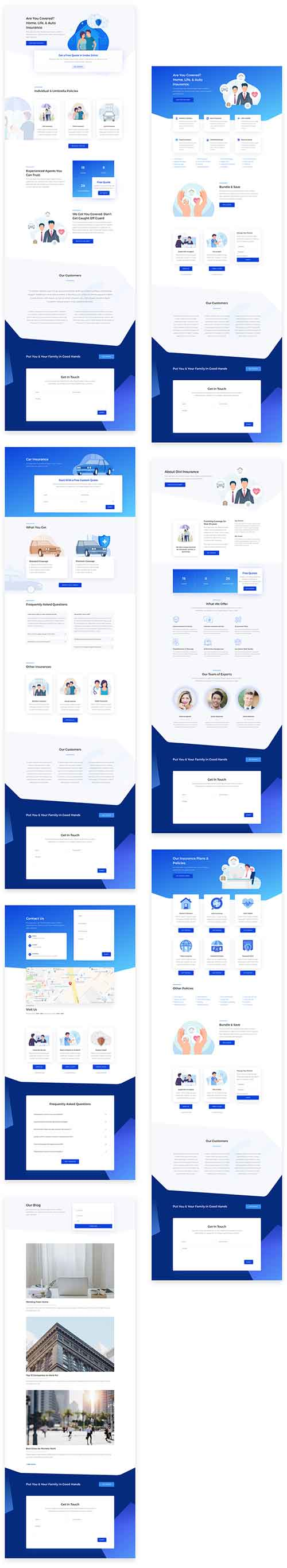 divi insurance layout pack