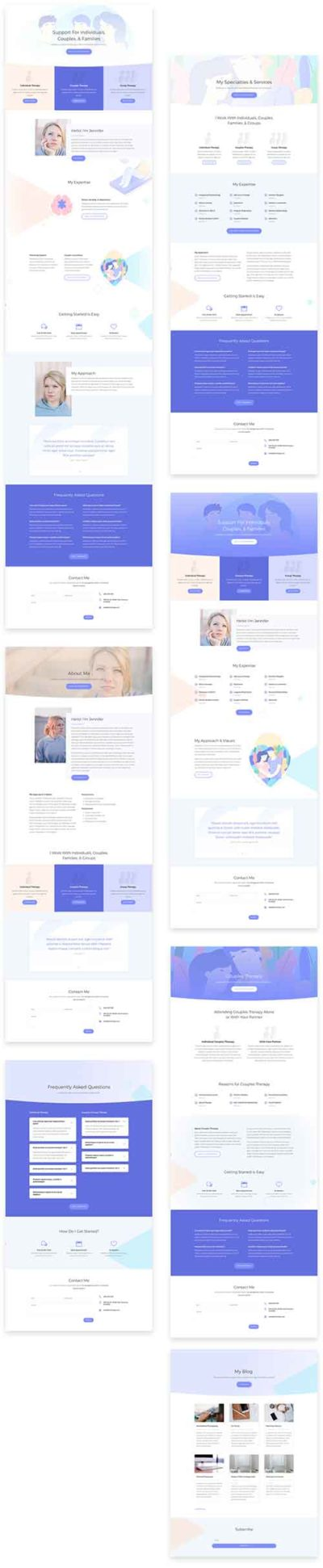 divi layout pack for therapist