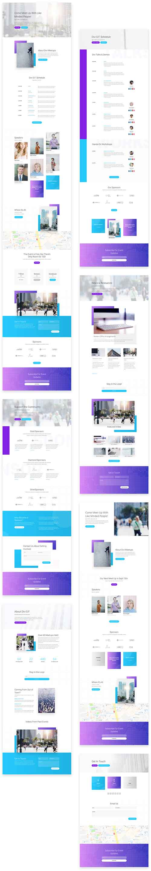Divi meetup layout pack